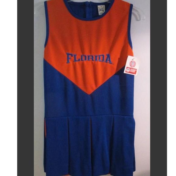 Little King Other - NEW Girls Florida Gators 12 Med Cheerleading Dress